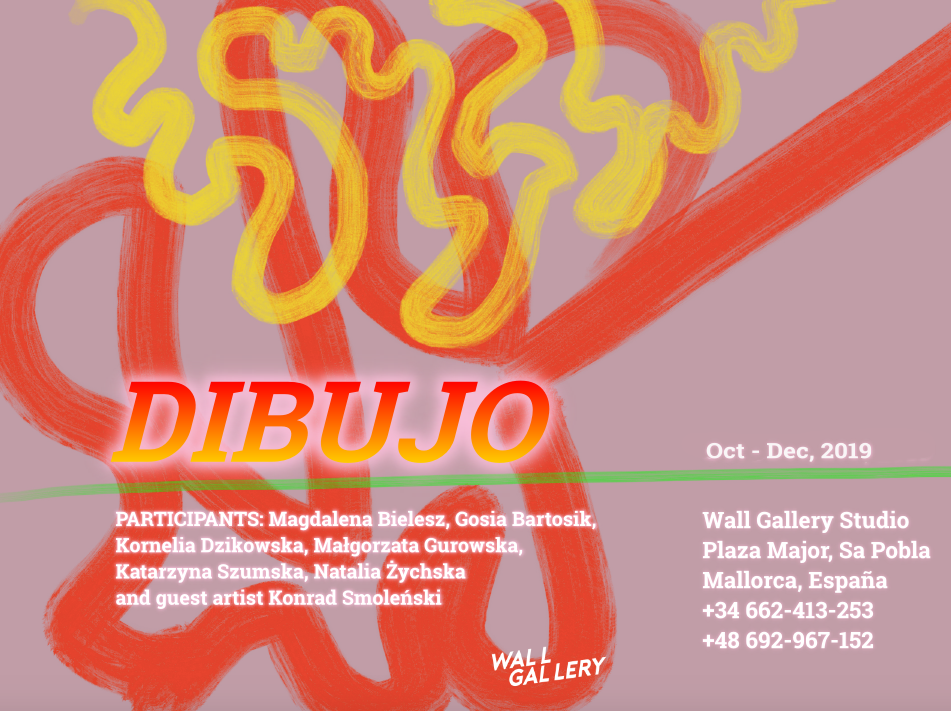 """Dibujo"" Wall Gallery group exhibition in Mallorca"